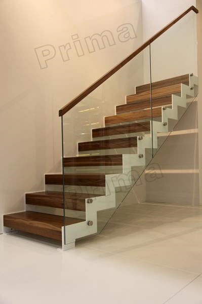 DIY Floating Staircase Wood Trade For Straight Stairs