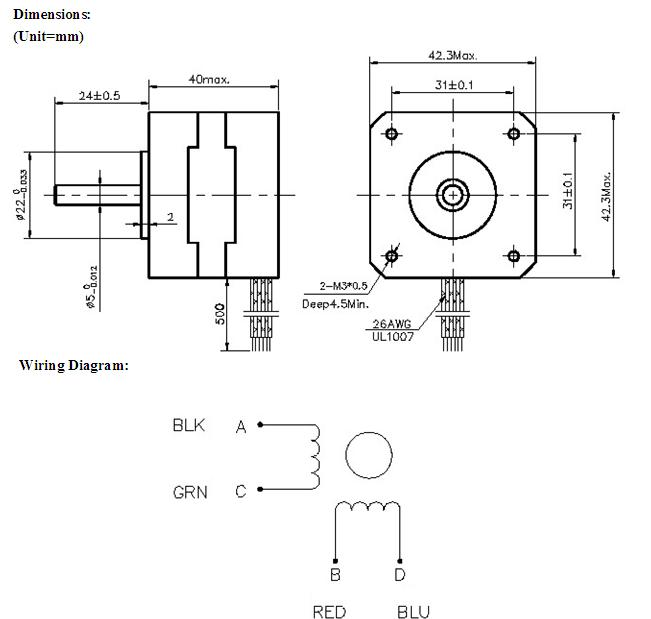 nema 17 stepper motor wiring diagram solidfonts 4 wire bipolar stepper motor wiring diagram jodebal com
