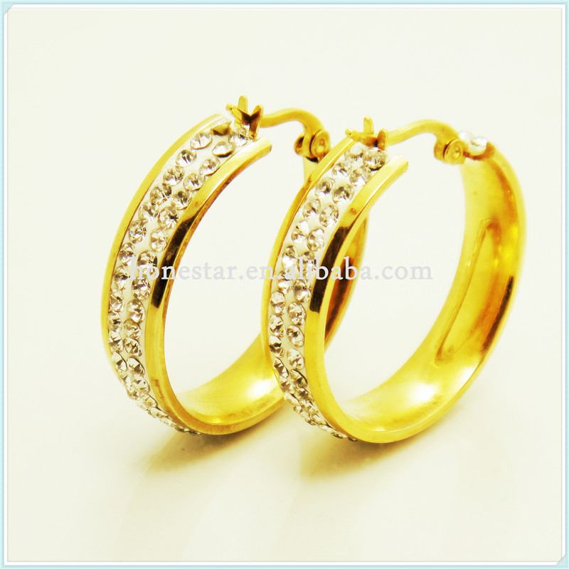 Wholesale white gems designs gold earring rings for sale ...