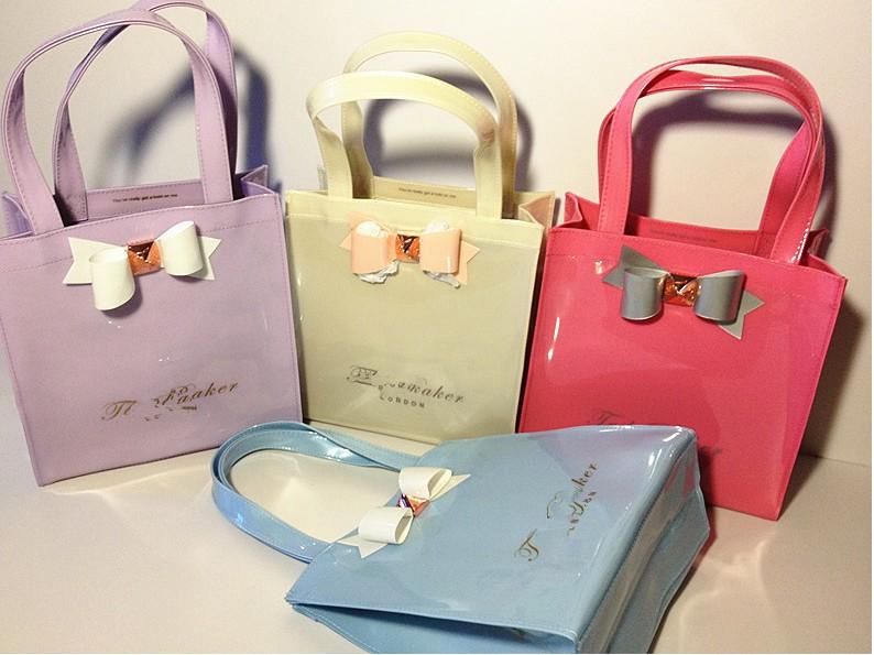 Wholesale Ted Baker handbag original Ted baker bowknot candy color shopping  bag 21aaba8c3f5fc