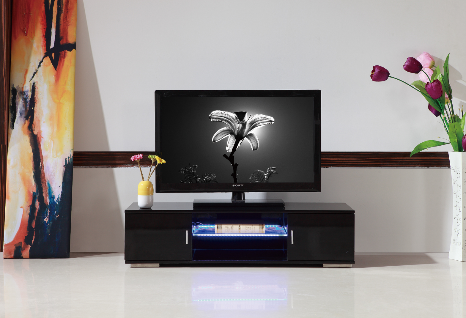 Led Tv Table Home Design Ideas And Pictures # Table Televiseur