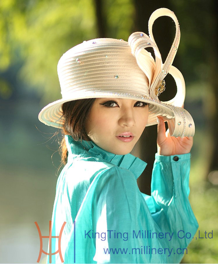 04f7af39a9b Beret Satin Braid Ladies  Church Hats   womens easter hats for dress ...