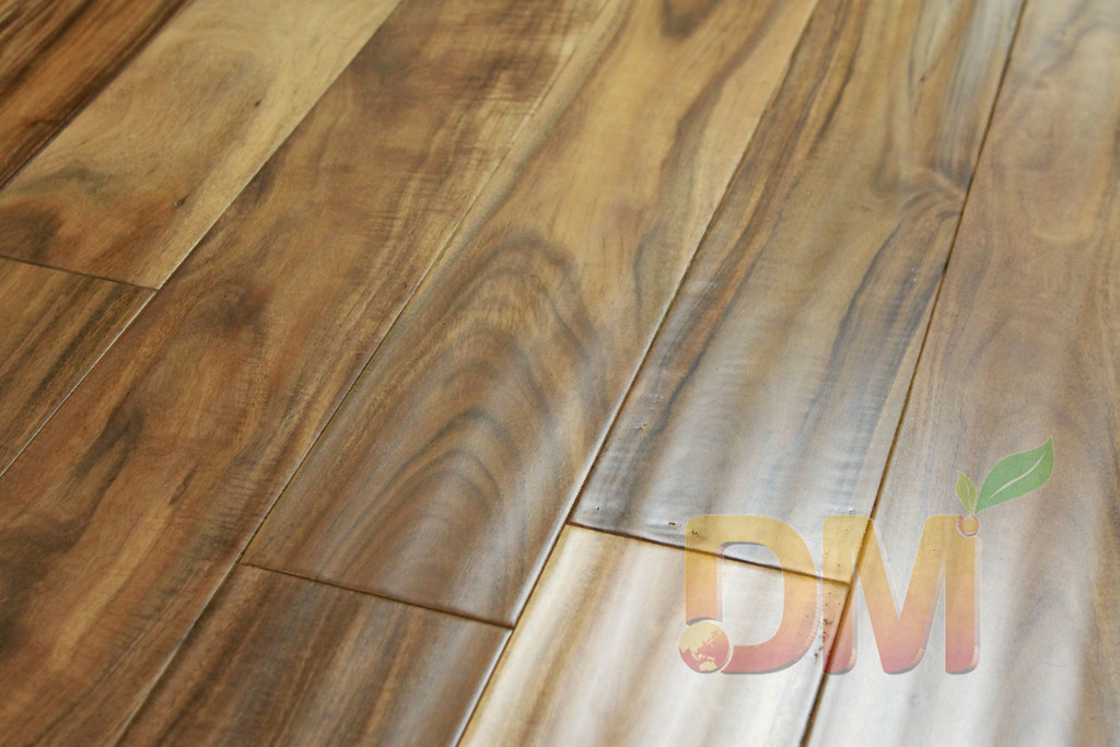 Hand Scraped Acacia Wooden Flooring Asian Walnut Acacia Solid Wood