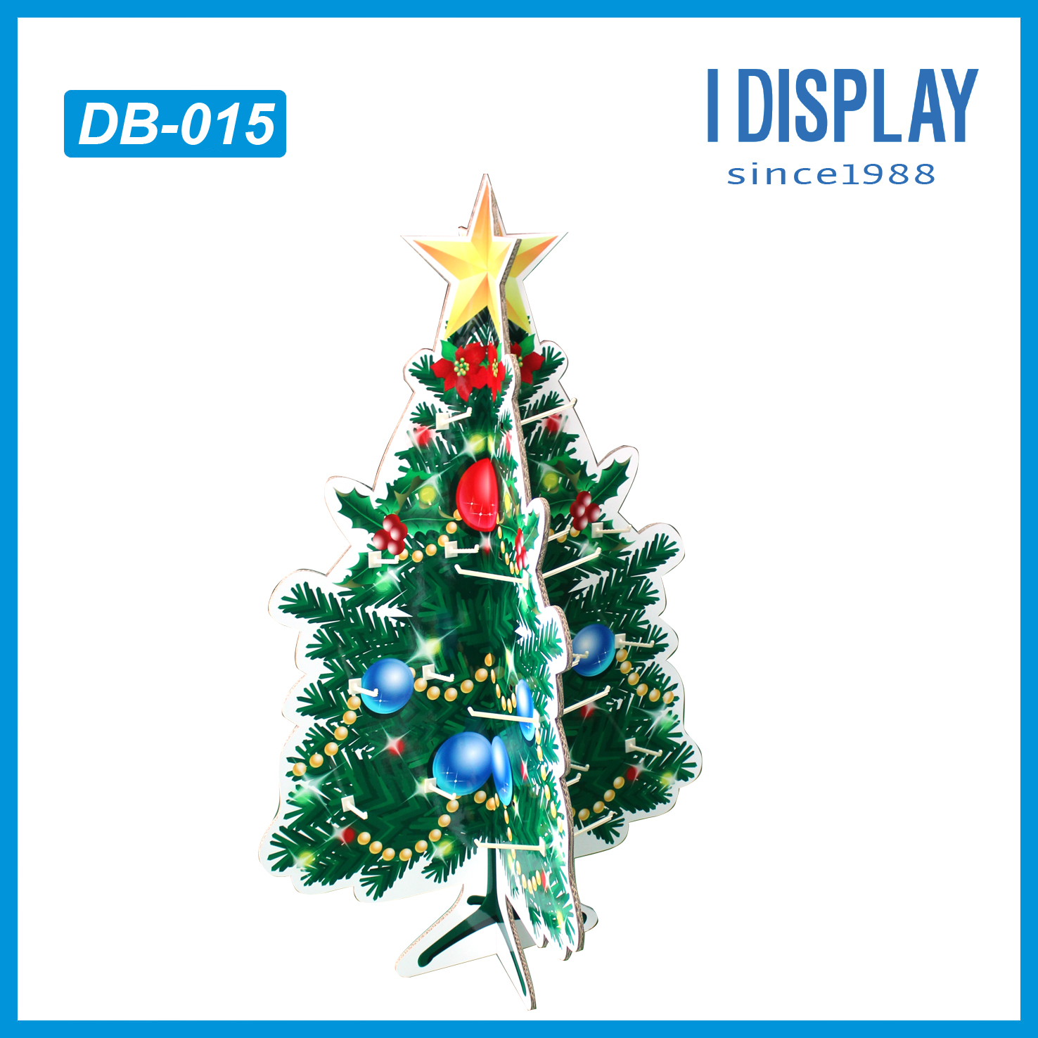Cardboard Christmas Tree,Blue Spots Party 3 Tire Cupcake Stand ...