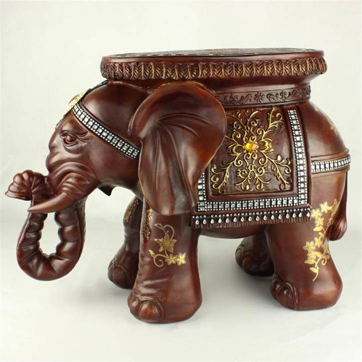 environmental resin elephant stool resin elephant crafts home decoration new year gift xh010 2 - Elephant Home Decor