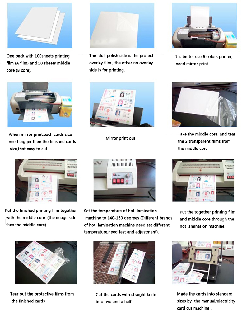 guangyi factory from china supply inkjet and laser type pvc dragon