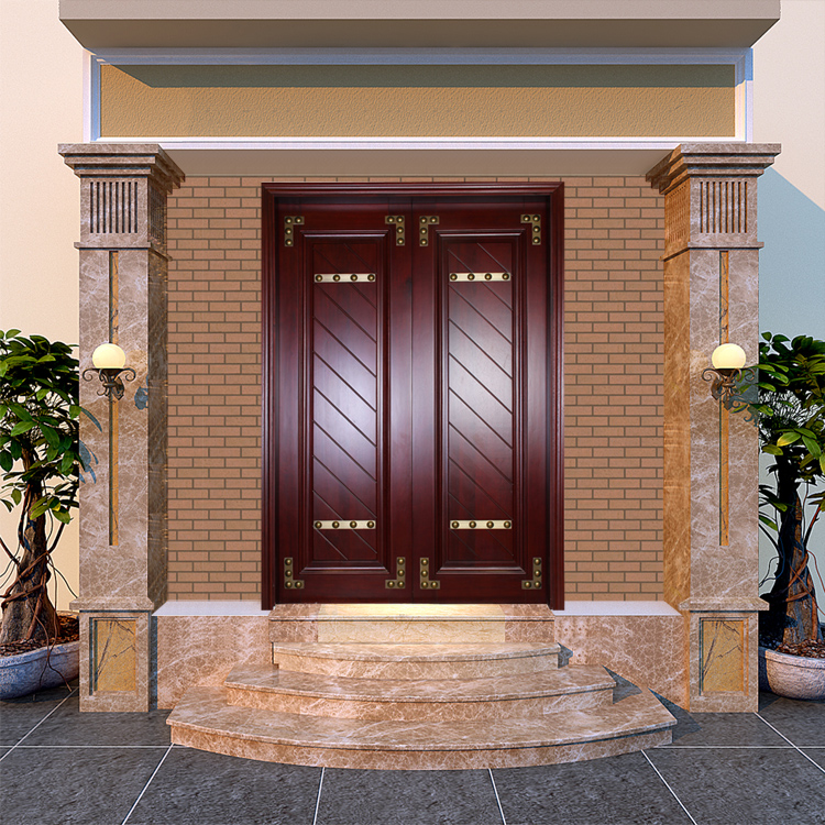 Factory Directly Sale Villa Front Entrance Double Wooden