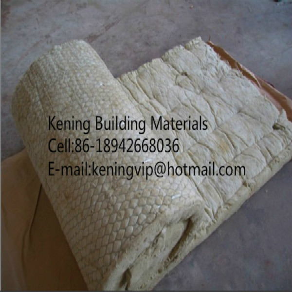 Rock Wool Blanket Mineral Wool Roll With Wire Mesh For