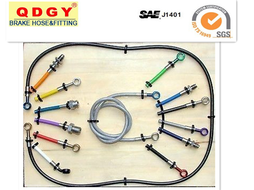Stainless Steel Braided Flexible Brake Hose Line For Sale Wire Harness Metal Display