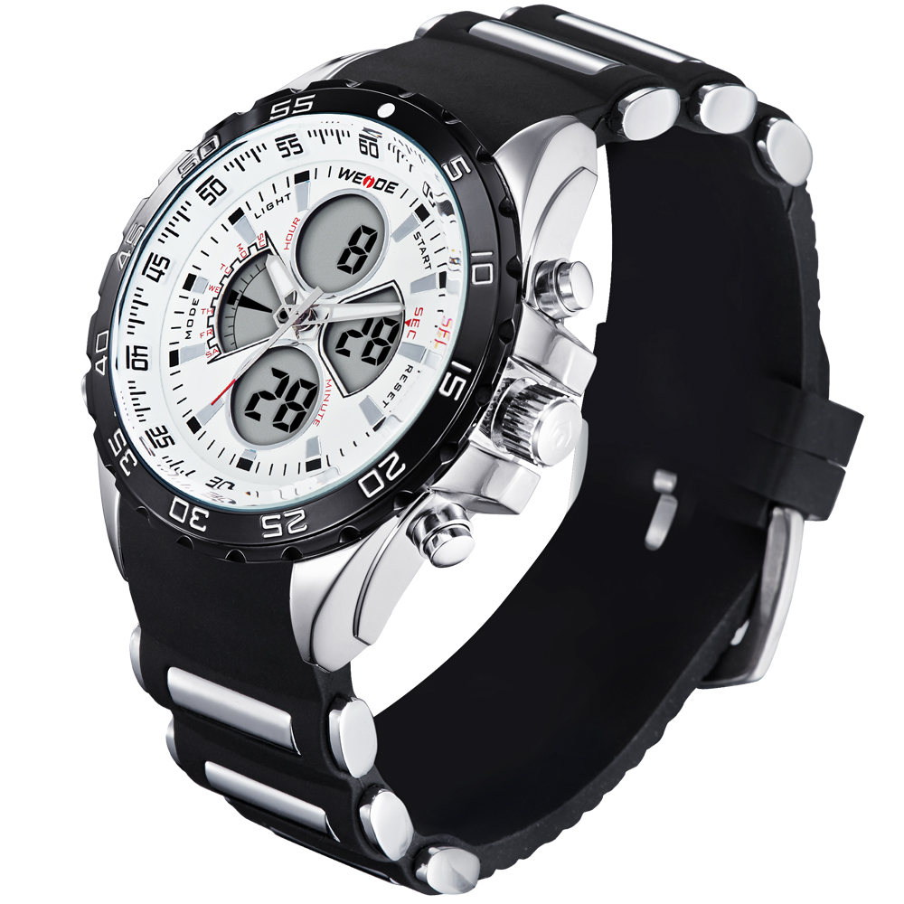 don shopping steel product watch quartz lcd men stainless strap digital dual basking sport shark black time watches alarm relogio zone dial