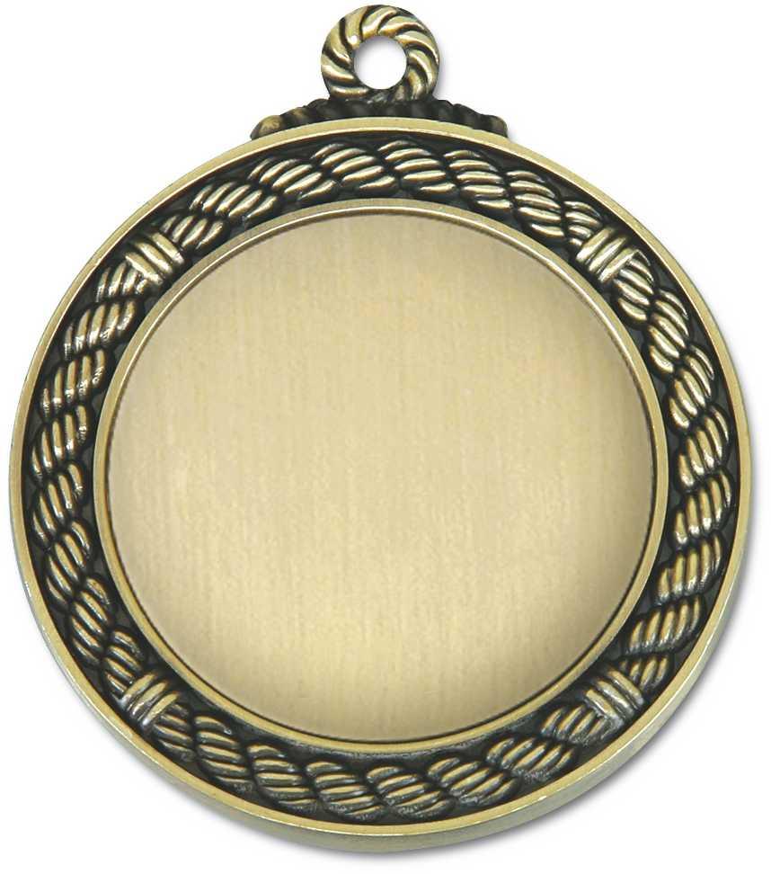 65cm zinc alloy blank gold souvenir medal for sale