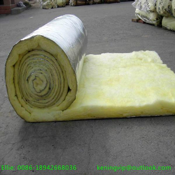 Fiber glass wool for hvac system fire resistant aluminum for Fiber wool insulation