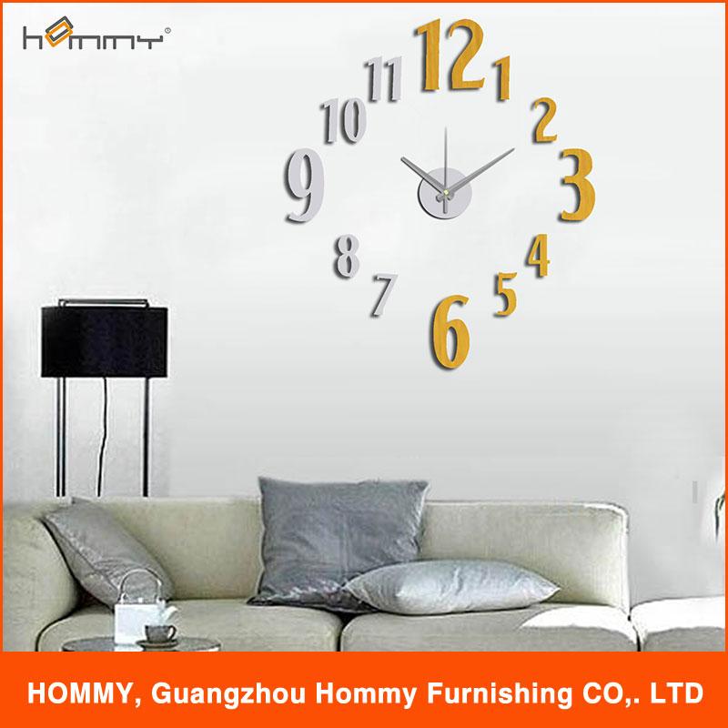 digital clock wall sticker clock decorative clock for home decor