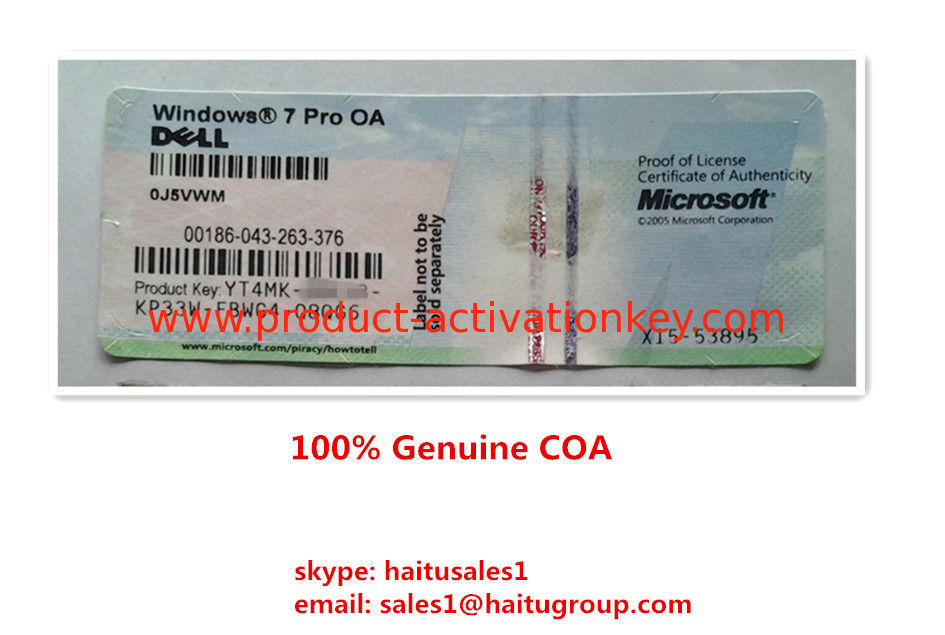 genuine windows 7 professional product key