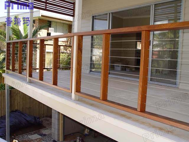 Free sample china wholesales stainless steel rod railing - Barandillas de madera exterior ...