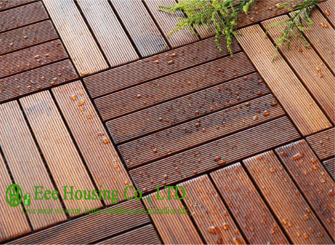 300x300x23mm outdoor bamboo flooring decking tile unit series for Bamboo flooring outdoor decking