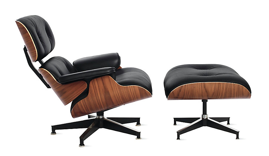 Charles Ray Eames Lounge Chair With Ottoman Top Grain Italy Leather Excellent