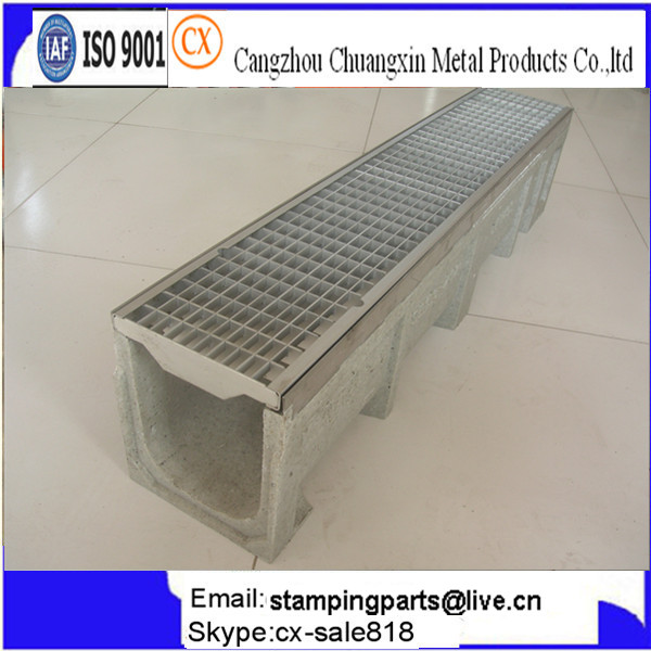 U Shape Drainage Channel With Metal Steel Grates For Sale