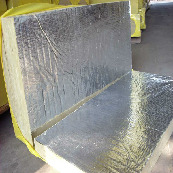 Rock wool board with aluminium foil foil back rock wool for 3 mineral wool insulation