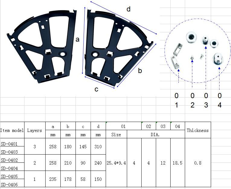 double-layer shoe cabinet metal swivel rack brackets/shoe ...