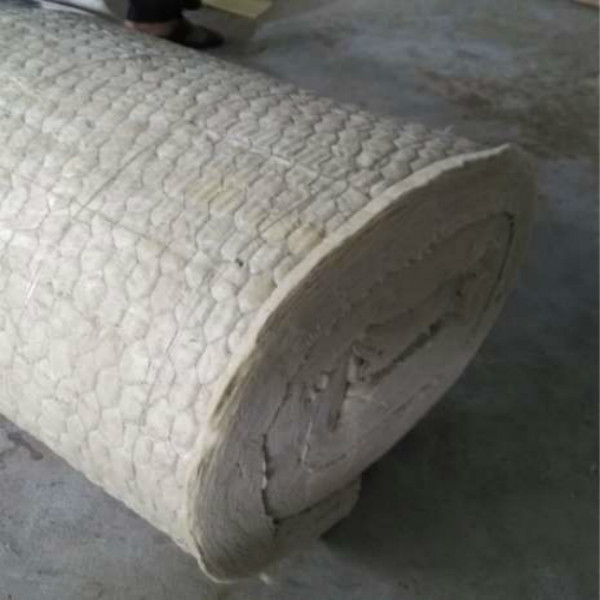 Rock wool blanket mineral wool roll with wire mesh for for Rock mineral wool