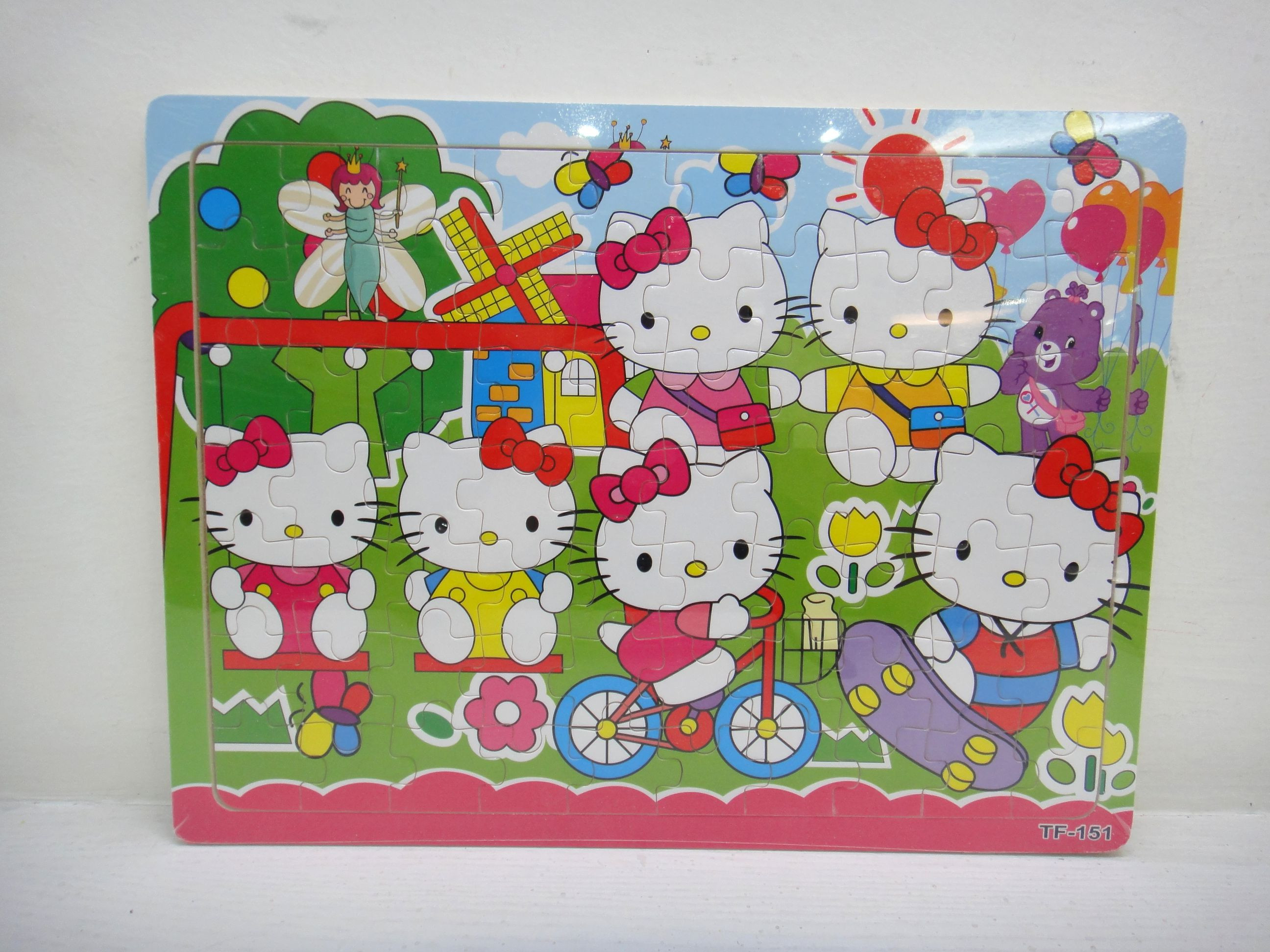 wooden toys hello kitty puzzle,wooden jigsaw puzzle game