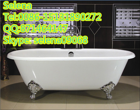 cast iron dual clawfoot tub