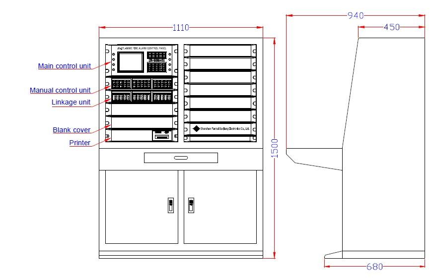 Fire Alarm Control Panel Linkage Type Cj 9000 2