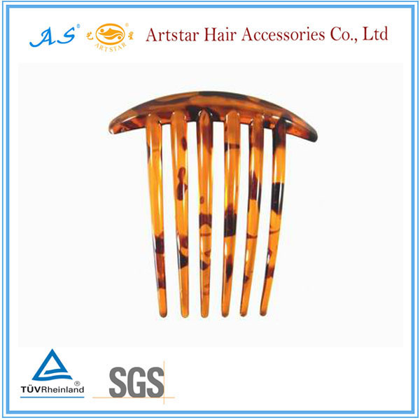 5pc brown plastic blank hair comb with 7 teeth for in tortoise shell