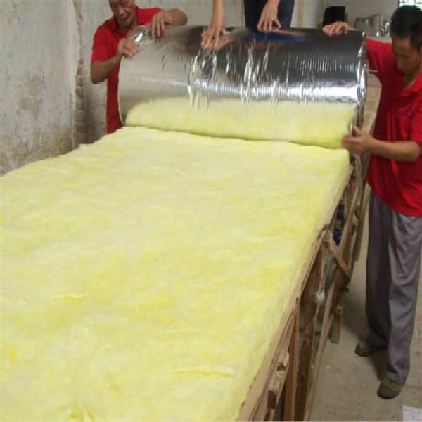 Kraft Paper Cover Glasswool Roll Insulation Glass Wool