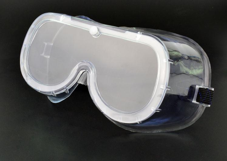 blue ski goggles  single goggles
