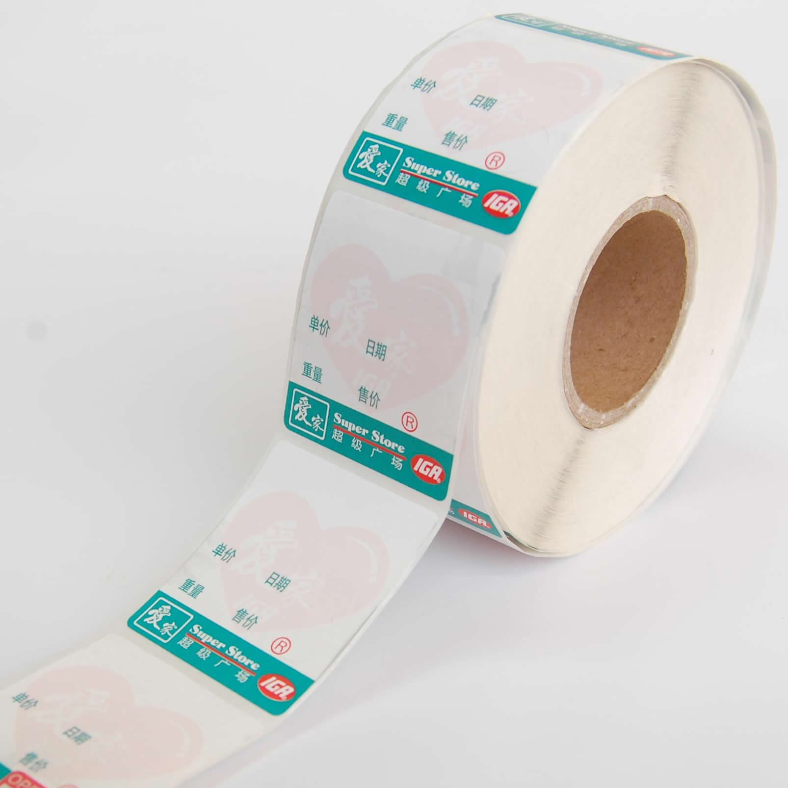 Weighing Scale Thermal Labels Self Adhesive Stickers Paper