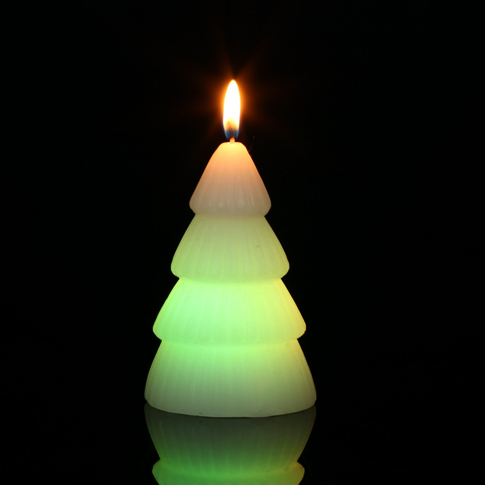 48 pcs packed led color changing X\'mas tree wax magic candle for ...